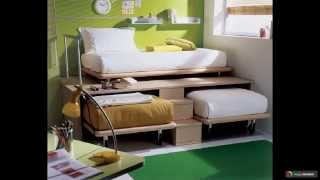 видео Выдвижная кровать для двоих детей