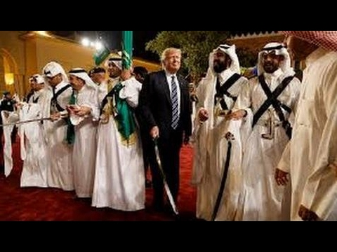 President Trump & King Salman Dancing During Ceremony in Saudi Arabia (FULL) ☯ ☸ ☹ ☻