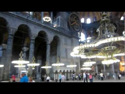 Hagia Sophia Interior Panorama Istanbul Turkey Vacation Old Town Ottoman Empire
