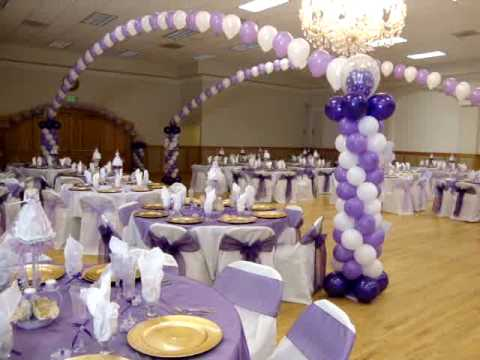 Quinceanera and boda decorations with balloons youtube for Balloon decoration ideas for a quinceanera