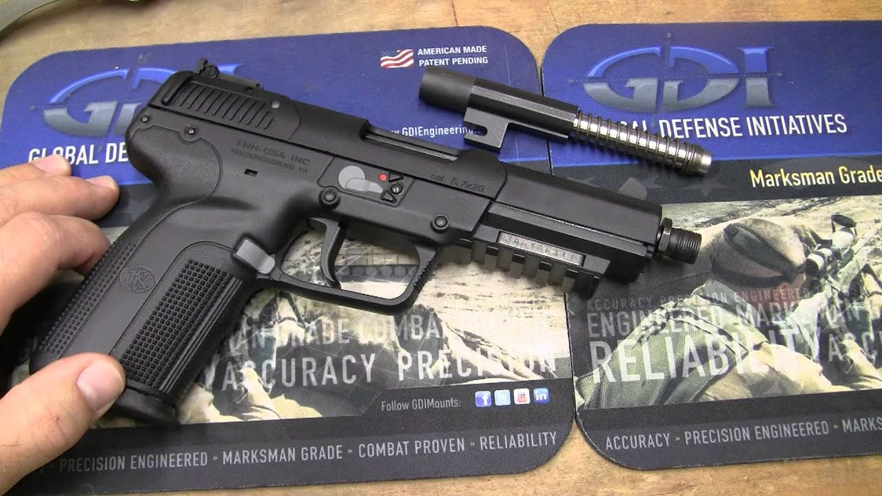 FN 57 x 28mm Suppressing Something to Think About  YouTube