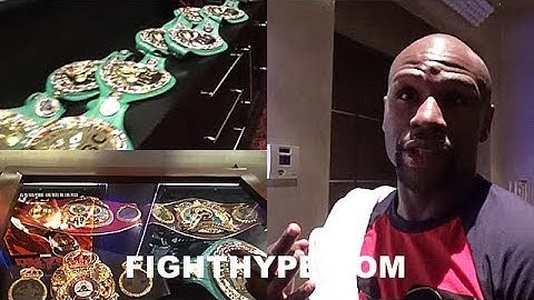 MAYWEATHER EXPLAINS MEANING OF UNDISPUTED; FLOSSES 22 WORLD TITLES AND MOST EXPENSIVE IN WORLD