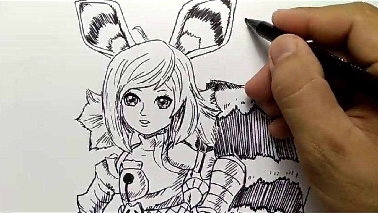 IMUTNYA cara menggambar NANA MOBILE LEGEND how to draw nana mobile legend