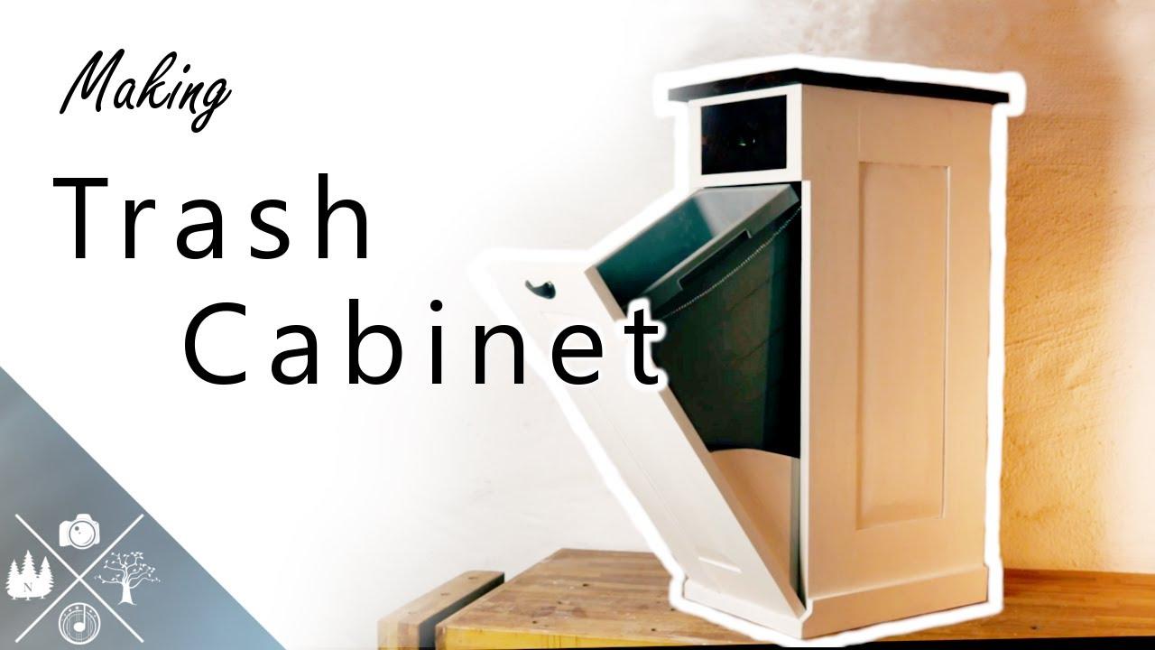 Making A Diy Tilt Out Trash Cabinet, Double Tilt Out Trash Bin Cabinet With Drawer Plans