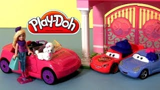 Play Doh Barbie Car Build Style Playset Play Doh Cars Sally Lightning Mcqueen Disney Play-doh