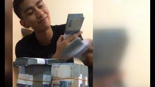 Pamerkan Uang Curian di Media Sosial, Pemuda Ini Menangis Saat Ditangkap