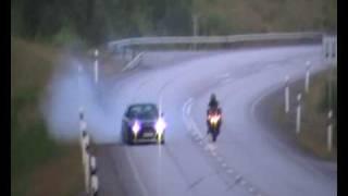 Bmw M5 Turbo vs yamaha R1 Monster AG:s http://www.agsinorrkoping.se/