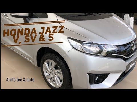 Honda jazz 2017 - variants