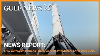 SpaceX Falcon 9 rocket replica adorns star-spangled US Pavilion at Expo 2020 Dubai