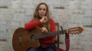 Видеоурок Сбегать из дома на гитаре  (Градусы) by Anastasya Danilina