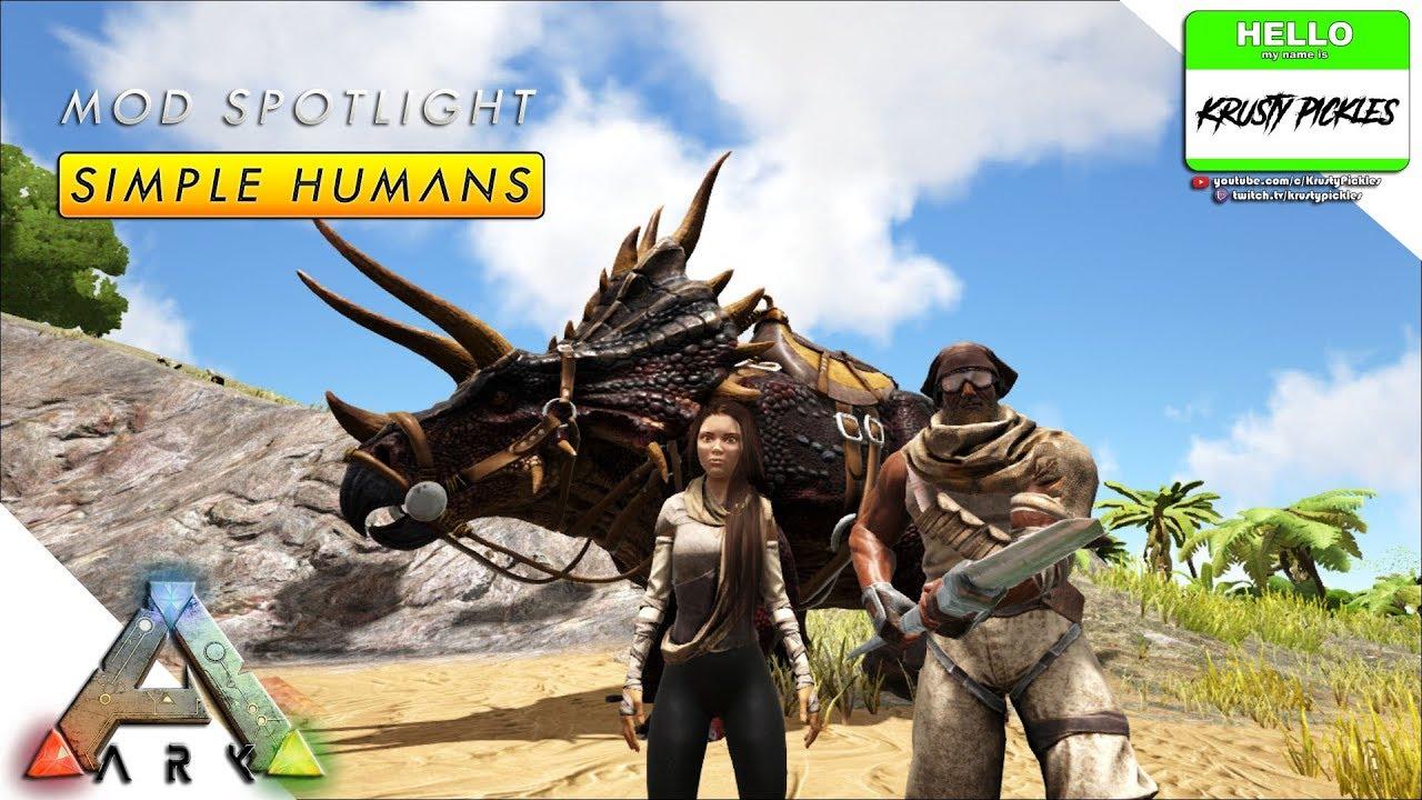Ark: Survival Evolved - Mod Show Case - Simple Humans (Bush People  Replacement?)