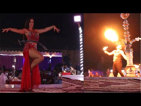 Dance & Dinner Buffet at Desert Camp in Dubai #dillisesharma