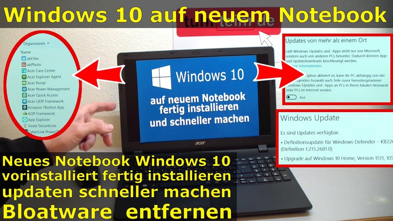 Windows 8 1 Schneller Machen windows 10 auf notebook fertig installieren und schneller machen