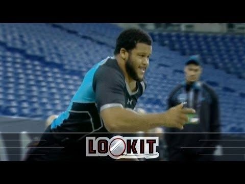 Aaron Donald Runs A Filthy 4.6, Highlights Crazy Day For Defensive Linemen At NFL Combine (#LOOKIT)
