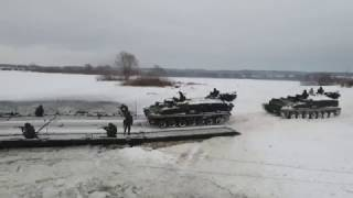 Переправа тяжелой военной техники