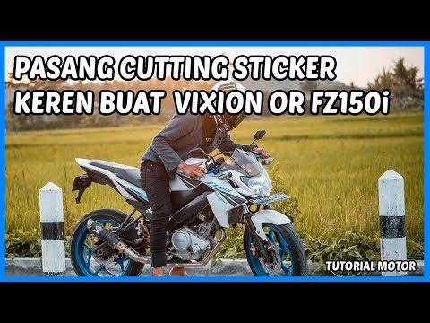 Pasang Cutting Sticker Vixion FZ150i Minimalis by @Liverodesign