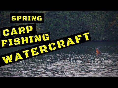 CARP FISHING IN SPRING WATERCRAFT
