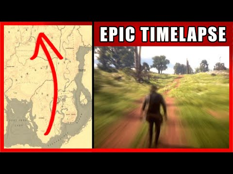 Walk Across The Map Timelapse | Red Dead Redemption 2 (RDR 2)