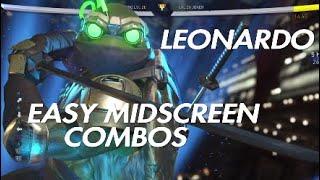 Injustice 2 | TMNT Leonardo Easy Midscreen Combos