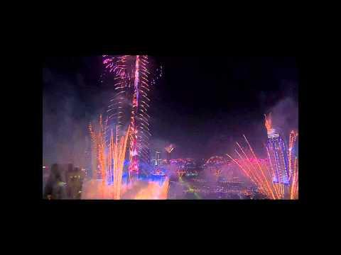 Новый 2015 год в Дубай. Фейерверк. Dubai fireworks New Years.