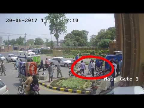 CCTV Footage before damage cameras by Goons during attack on UAF