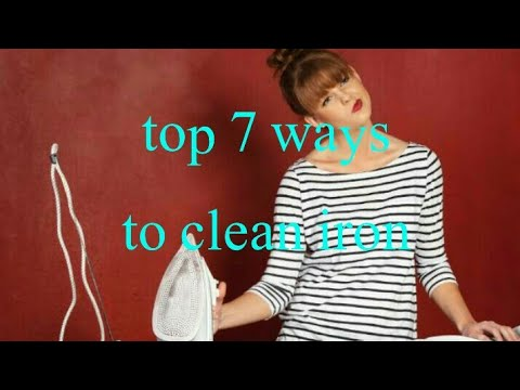Top 7 ways to clean iron| clean your burnt iron