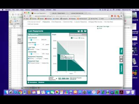 Home loan annuities in excel - lesson 1