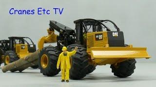 Diecast Masters Caterpillar 555D Wheel Skidder by Cranes Etc TV