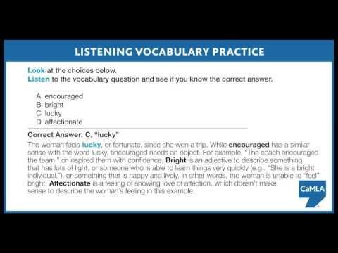 English Listening Vocabulary 1