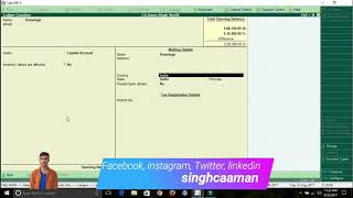 How to record Ledger transaction in Tally ERP 9!!  Hindi