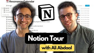Notion Tour with Ali Abdaal (+ Free Template for Students)