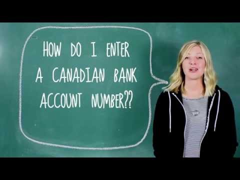 How Do I Enter A Canadian Bank Account Number?