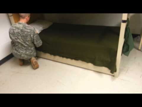 Making your bed in the Army