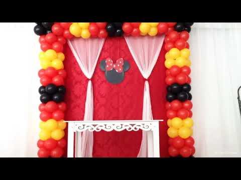 Montando a Festa da Minnie Vermelha