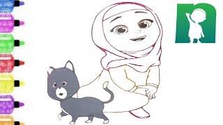Belajar Menggambar Dan Mewarnai Rara Dan Anta Si Kucing Meong Lucu Youtube