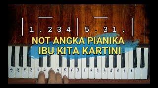 Not Angka Ibu Kita Kartini (lengkap) - pianika cover