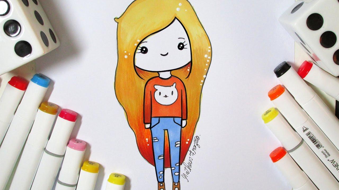 Desenhos Tumblr De Mão Estalando Como Fazer: Como Desenhar Bonequinha Tumblr