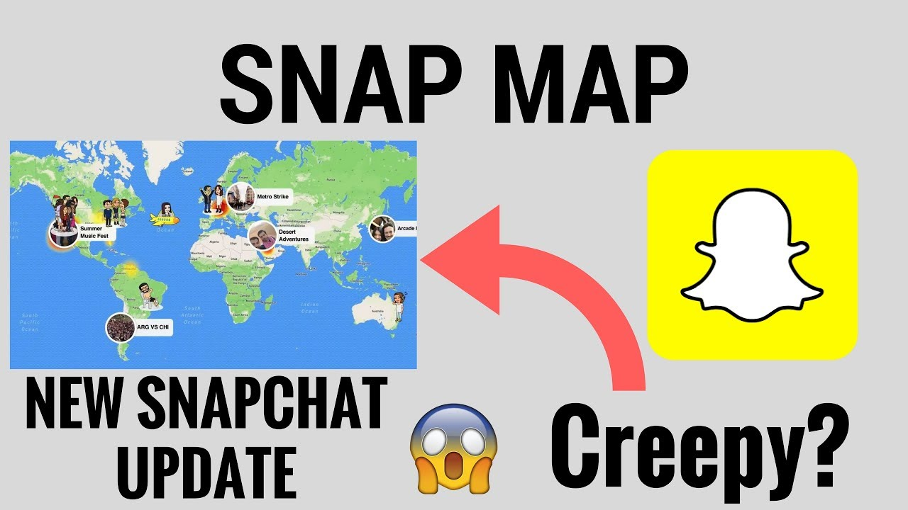 how to put a snap on the map