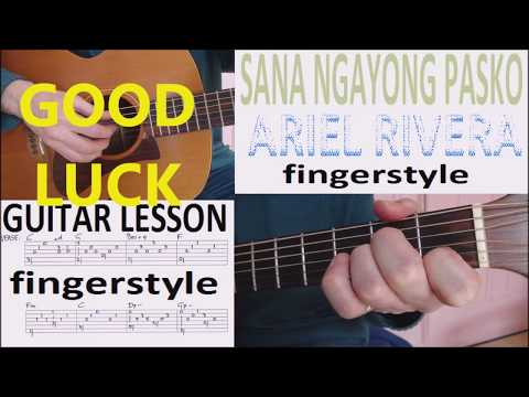 SANA NGAYONG PASKO - ARIEL RIVERA fingerstyle GUITAR LESSON