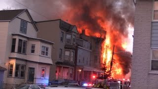 Paterson NJ Fire Department 4th Alarm Fire 218 16th Ave Fully involved 3 story frame