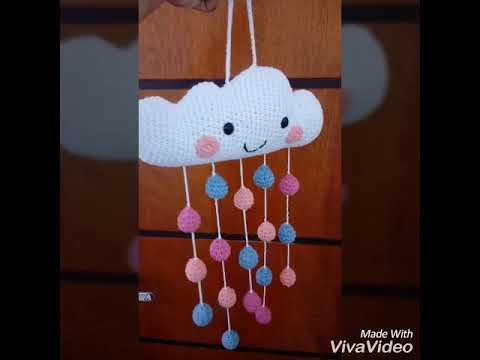 Linda nuvenzinha feita em crochê com a técnica do amigurumi! Ideal ... | 360x480