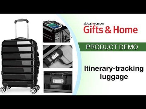 Smart hard-shell luggage records itinerary