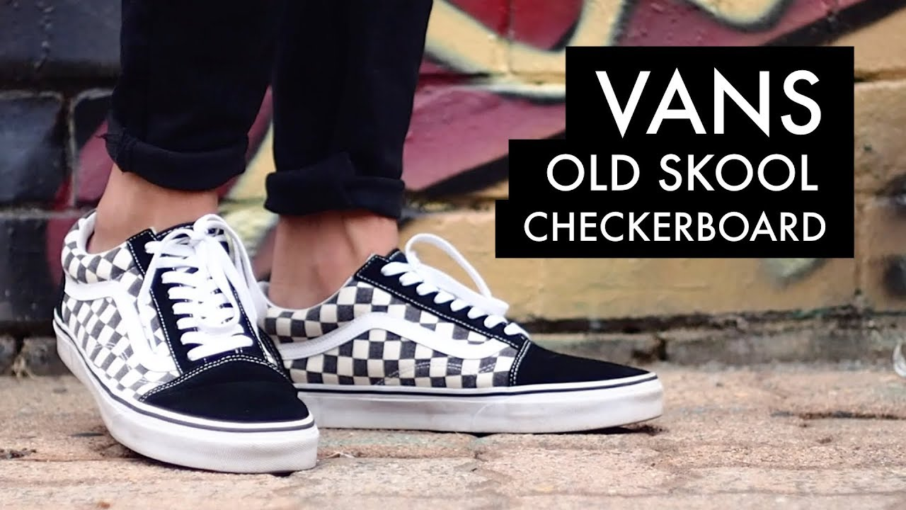 Vans Old Skool Checkerboard On Feet Youtube