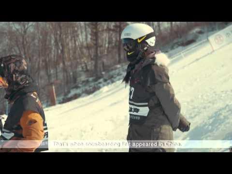 Cai Xuetong & Liu Jiayu at the Corona World Championships of Snowboarding in China