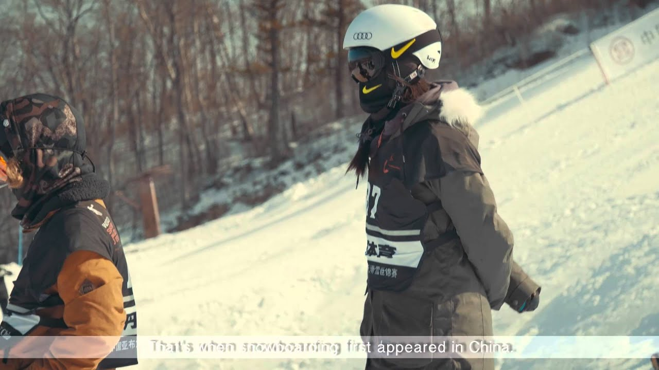 Cai xuetong & liu jiayu at the corona world championships of snowboarding in china