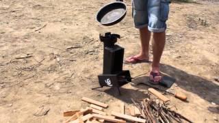 Ракетная печь ОГНИВО с функцией запекания картофеля