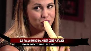 Chicas comen plátanos en #tocshow