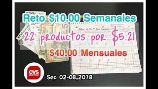 Comprando en CVS con $10.00 Semanales •• Sep 02-08,2018 ••