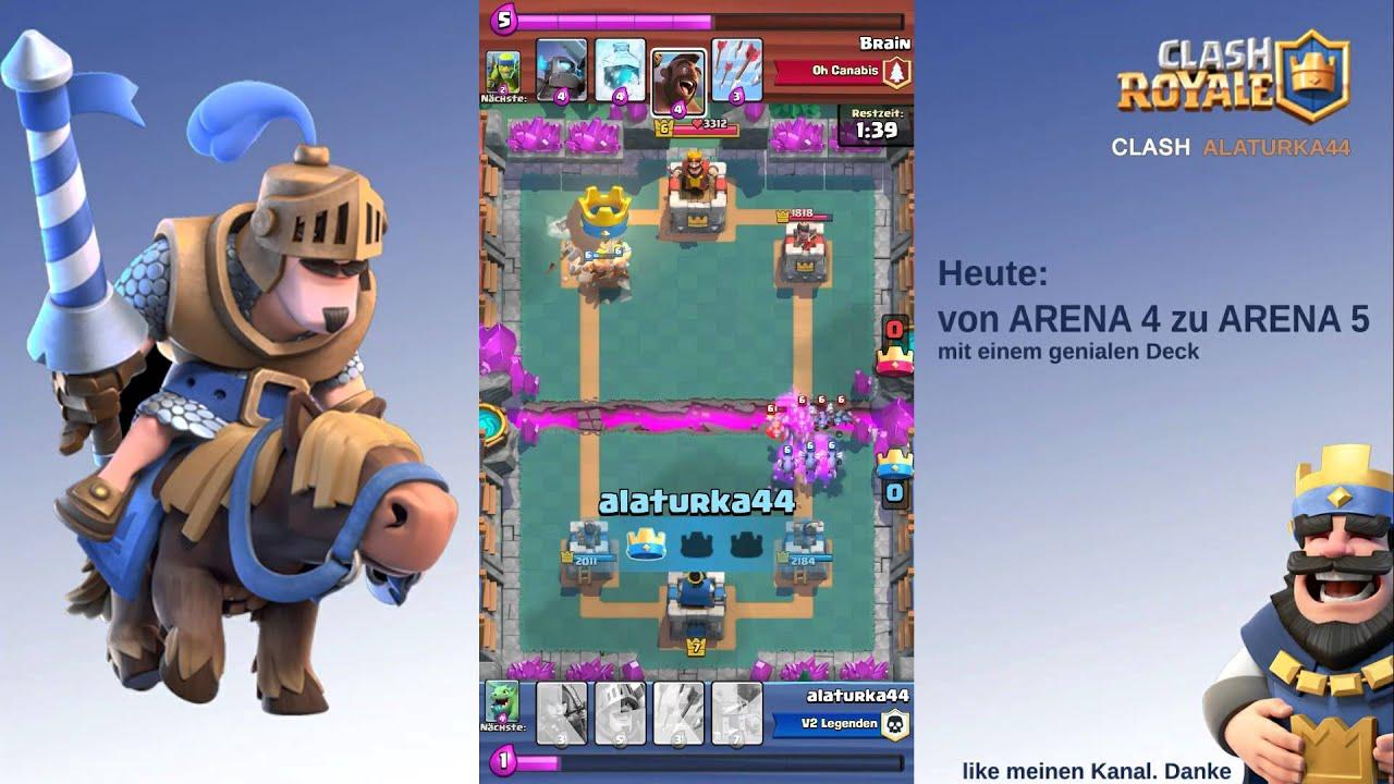 Clash Royale Arena 5 Deck Deutsch