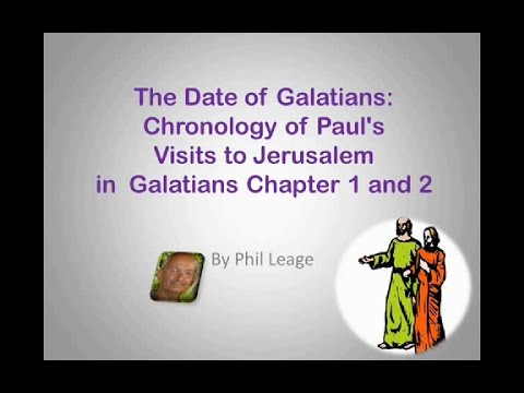 The Dates of the Visits to Jerusalem in Galatians Chapters 1 and 2